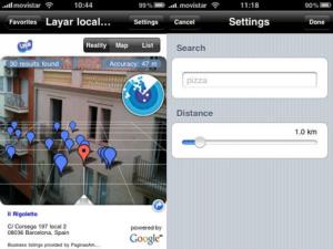 Layar, realidad aumentada móvil